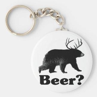 Beer? Basic Round Button Keychain