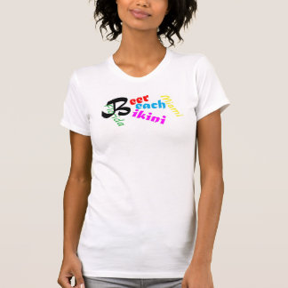 Beer Beach Bikini Miami Fl T-shirt