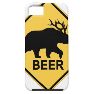 Beer Bear Deer Crossing Sign T-Shirts.png iPhone SE/5/5s Case