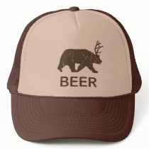 Beer Bear Deer Trucker Hat