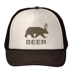 Beer Bear Deer Trucker Hat at Zazzle