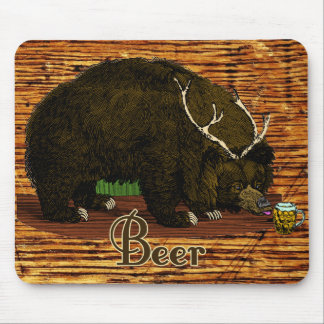 Beer Bear Mouse Pad