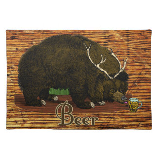 Beer Bear Placemat