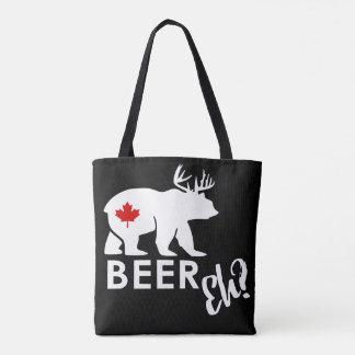 Beer bear tote bag