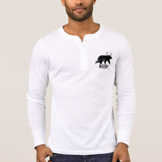 Beer? Bear with antlers long sleeve shirt