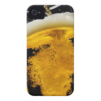 Beer been poured into glass, studio shot iPhone 4 cover