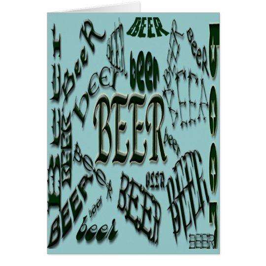 beer*BeEr*BEER Design Card