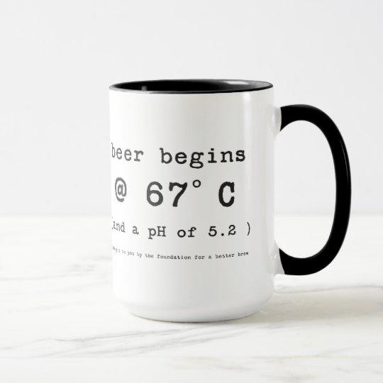 Beer Begins at 152 Degrees Celsius Mug