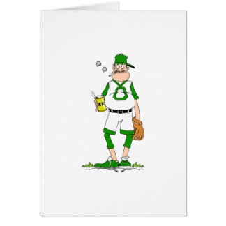 Beer Belly Ball Player Greeting Card