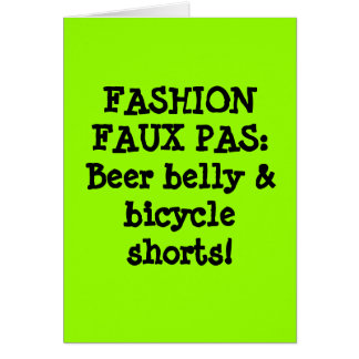 Beer Belly Greeting Cards