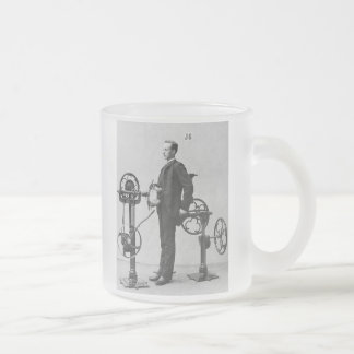 beer belly? frosted glass coffee mug