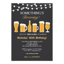 Beer Birthday Invitation, Adult Birthday Card