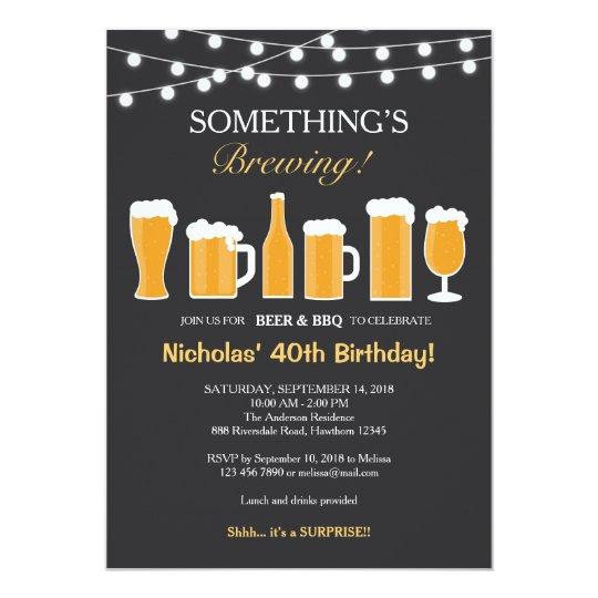 Men 40th Birthday Invitations Announcements – Mens 40th Birthday Invitations