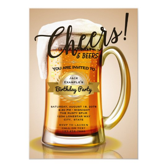 beer birthday invitations zazzle com