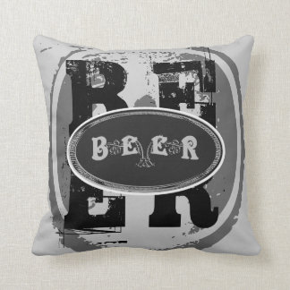 Beer-Black and White Oval 2 Pillow