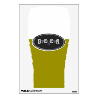 Beer! Black & White Logo Wall Decal
