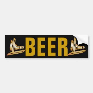 Beer Blades Bumper Sticker