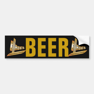 Beer Blades Bumper Stickers