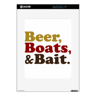 Beer Boats and Bait Fishing Decal For The iPad