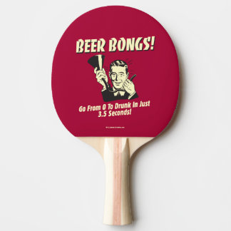 Beer Bongs: Go From 0 To Drunk In 3.5 Ping-Pong Paddle