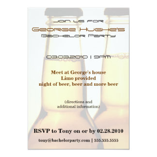 Beer Bottle Bachelor Party Invitations
