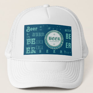 Beer Bottle Cap-Aqua Blue Trucker Hat