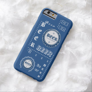 Beer Bottle Cap Collage Blue & White Barely There iPhone 6 Case