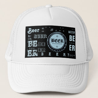 Beer Bottle Cap- Lite Blue & Black Trucker Hat