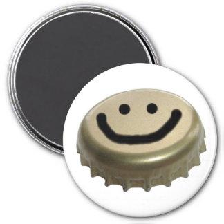 Beer Bottle Cap Smiley Face Refrigerator Magnet