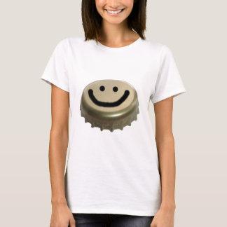 Beer Bottle Cap Smiley Face T-Shirt