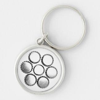 Beer Bottle Caps Flower Keychain