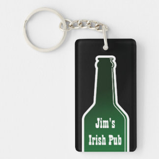 Beer bottle keychain with custom name