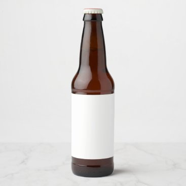 Beach Themed Beer Bottle Label Sticker