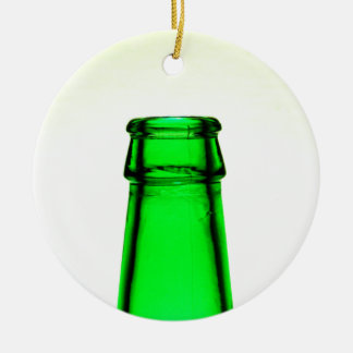 Beer Bottle Neck Ceramic Ornament