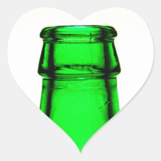 Beer Bottle Neck Heart Sticker