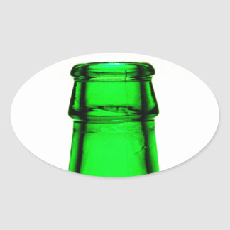Beer Bottle Neck Oval Sticker