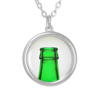 Beer Bottle Neck Round Pendant Necklace