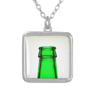 Beer Bottle Neck Square Pendant Necklace