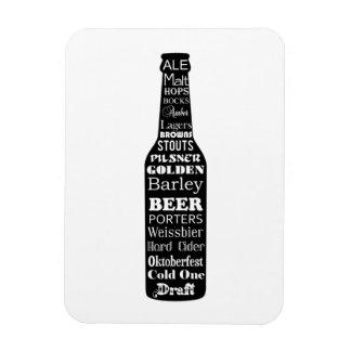 Beer bottle rectangle magnet