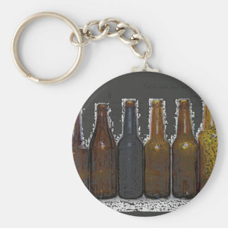 Beer Bottles Basic Round Button Keychain