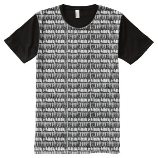 beer bottles black and white All-Over print t-shirt