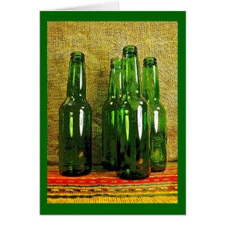 Beer bottles card