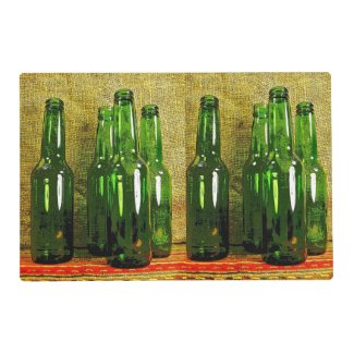 Beer Bottles Laminated Placemat