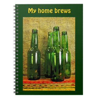 Beer Bottles Notebook