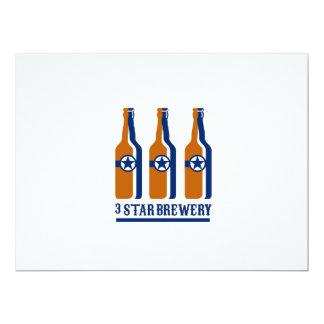 Beer Bottles Star Brewery Retro Card