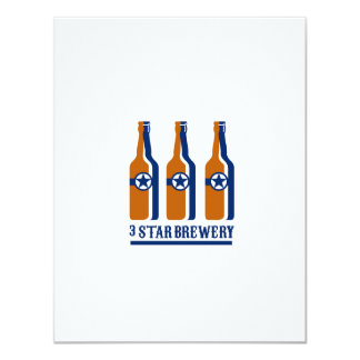 Beer Bottles Star Brewery Retro Card
