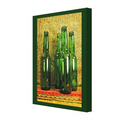 Beer Bottles Stretched Canvas Prints