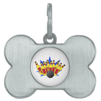 Beer Bowling Pet Tags