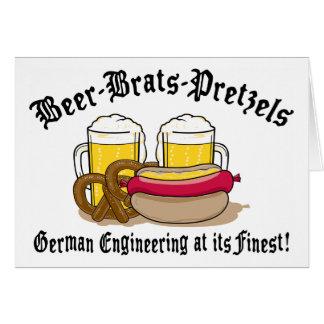 Beer Brats Pretzels German Greeting Card