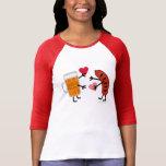 Beer & Bratwurst - Cute Valentine's Day Love Heart Tee Shirt